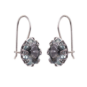 Yvone Christa_TULIP CUP EARRINGS WITH AQUA LEMURIA_E5166