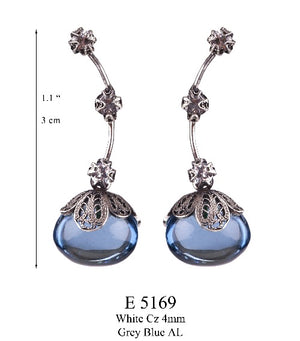 Dewdrop earrings - sapphire blue