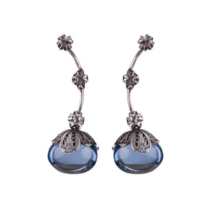 Yvonechrista_DEW DROP EARRINGS WITH BLUE AQUA LEMURIA AND CZ_E5169