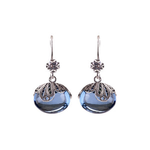 Yvone Christa_BLUE AQUA LEMURIA DEW DROP EARRINGS_E5185
