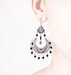 EC886r FRIDA CHANDELIER EARRINGS