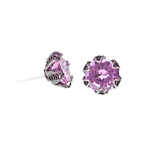 Yvone Christa_ECZ001P_TULIP CUP STUD EARRINGS WITH CUBIC ZIRCONIA - SMALL