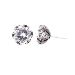 ECZ002c TULIP CUP STUD EARRINGS - MEDIUM_Yvone Christa