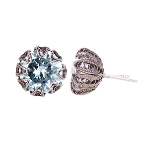 Yvone Christa_ECZ003_Blue AL_TULIP CUP STUD EARRINGS - LARGE