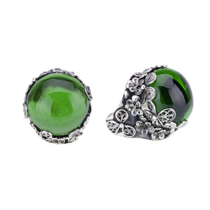 Yvone Christa_HORTENSIA FLOWER RING - EMERALD GREEN_R3687