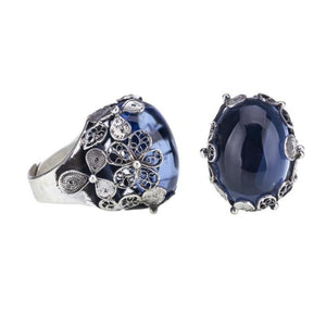 YVONE CHRISTA_LARGE OVAL HORTENSIA RING _R3688