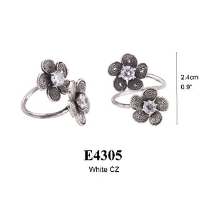 Tiny Phlox flower ring - CZ