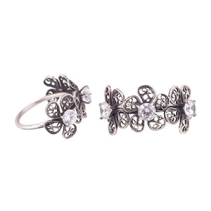 YVONE CHRISTA_THREE PHLOX FLOWER RING_R4148