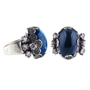 Yvone Christa_ZINNIA FLOWER COCKTAIL RING_R5124