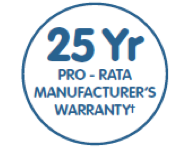 25 Year Manufactures Warranty