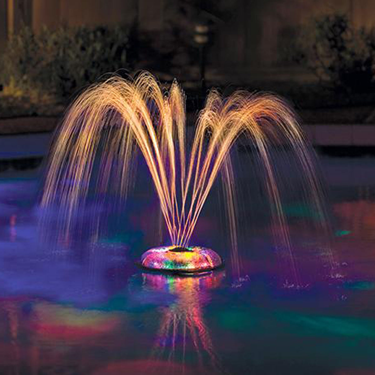 underwater light show and fountain effects