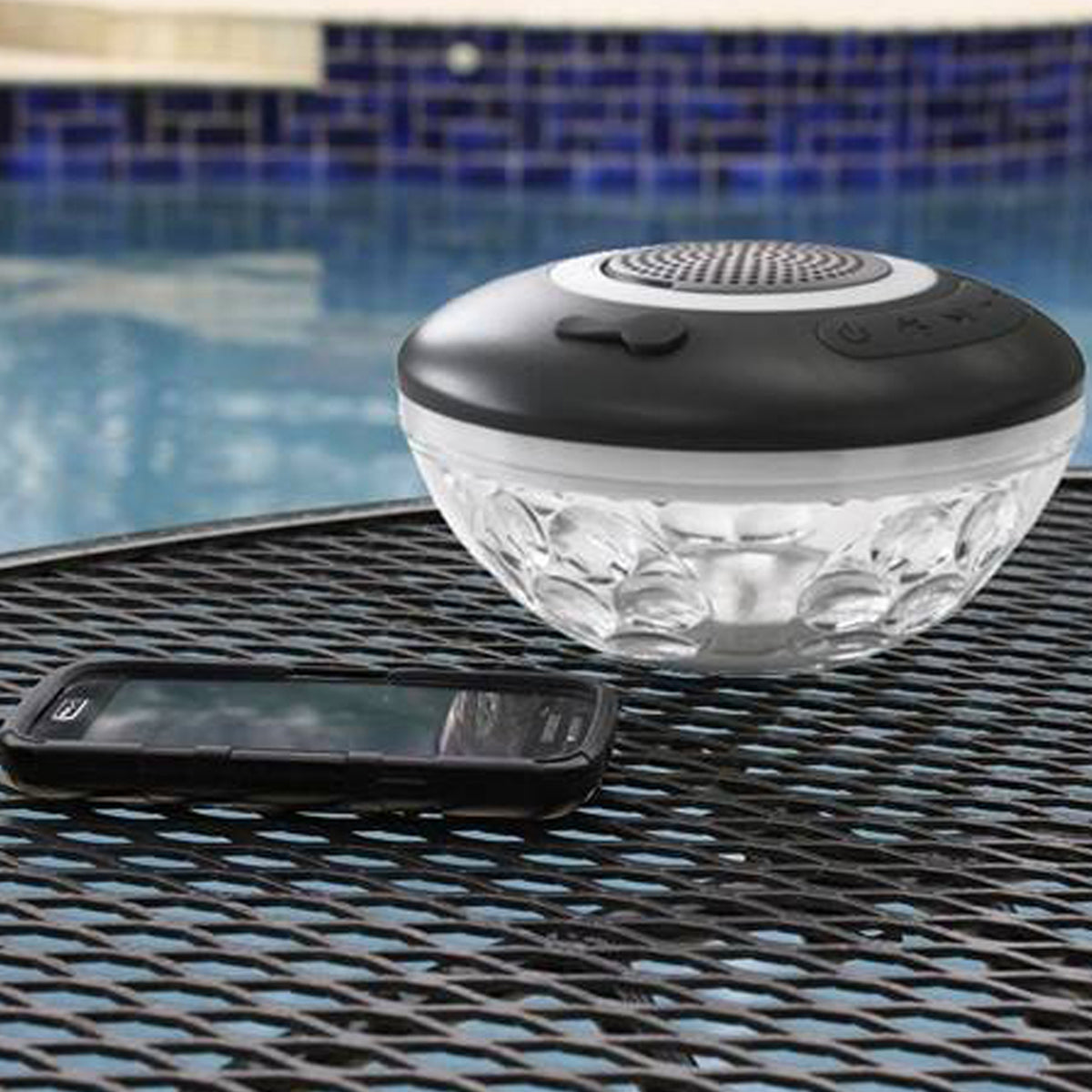 wireless speaker by the pool v2