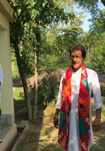Imran Khan Bowling Action UNSTITCHED 2.5 Metres in Technicolor DIGITAL Print for Kurta/Scarf!