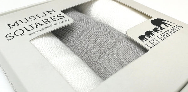 Muslin Squares Grey / White