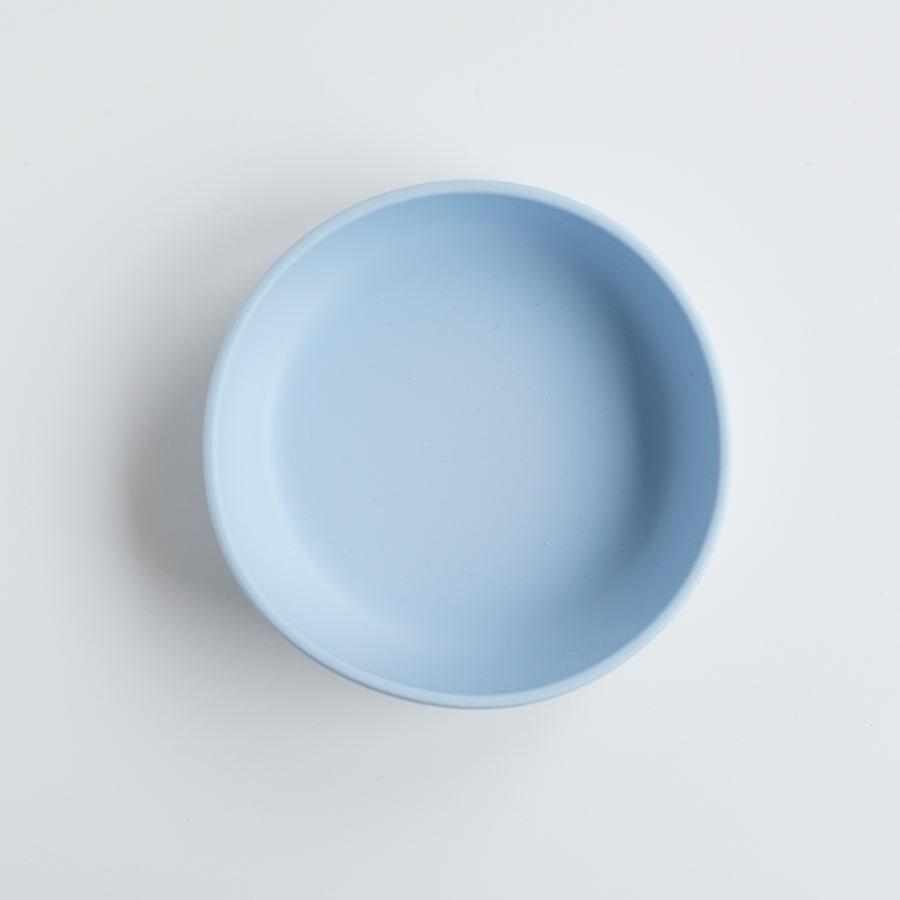 Les Enfants Silicon Baby Bowl Blue top view