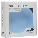 les enfants silicon bowl eating collection in presentation box blue