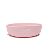 les enfants silicon bowl that sticks to surface eating collection pink showing les enfants logo