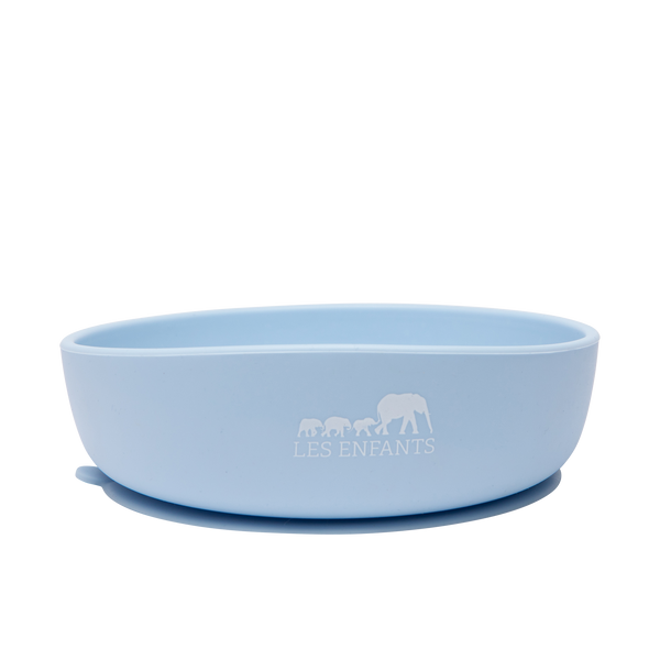 Silicone Baby Plate Bowl - Blue