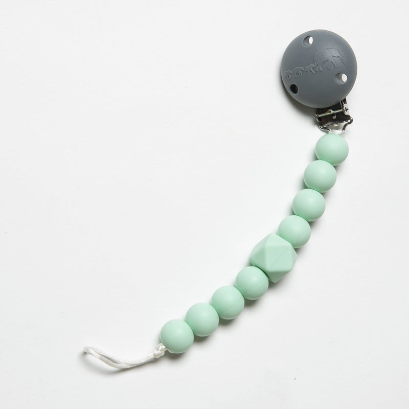 The Les Enfants Chewy Pacifier Clip mint green