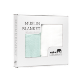 Muslin Blanket Green / White