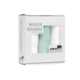 Muslin Squares Green / White