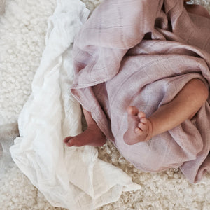 les enfants muslin blanket 100% bamboo pink user generated photo newborn baby feet in blanket