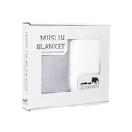 MUSLIN BLANKET GREY / WHITE