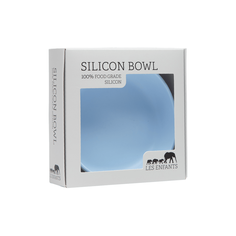 LES ENFANTS Silicon Baby Bowl - Blue