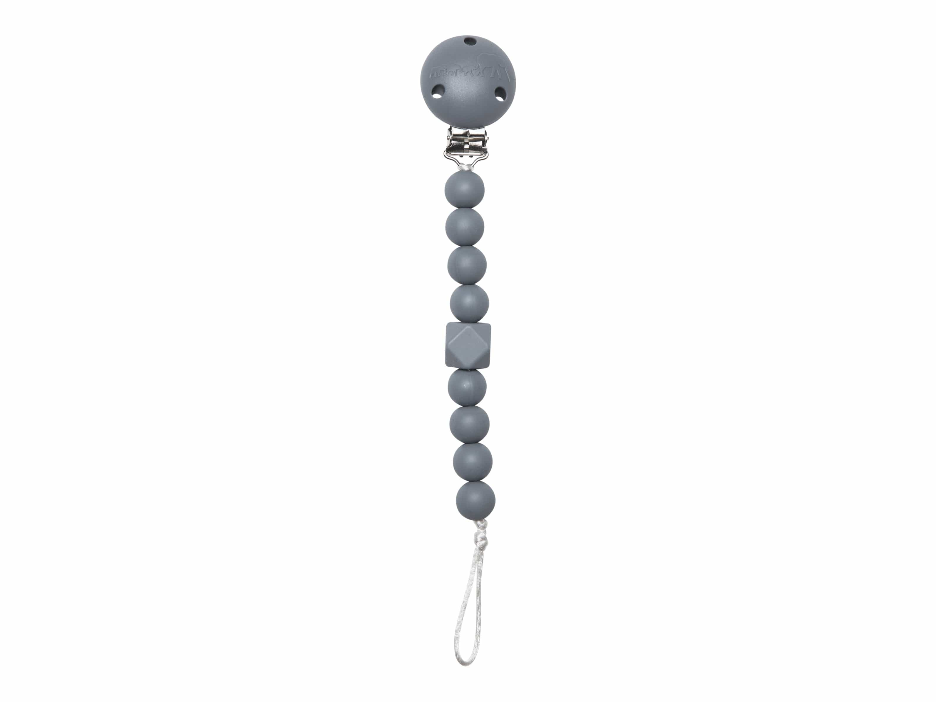 The Les Enfants Chewy Pacifier Clip grey