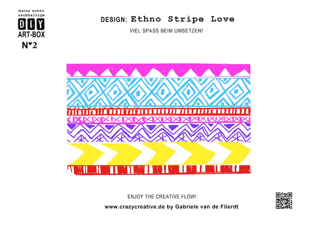 DIY-Design Maske ETHNO STRIPE