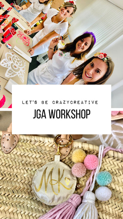 "JGA Idee - ""Let's be crazy creative"" Korbtaschen Workshop mit Designerin Gabriele van de Flierdt"