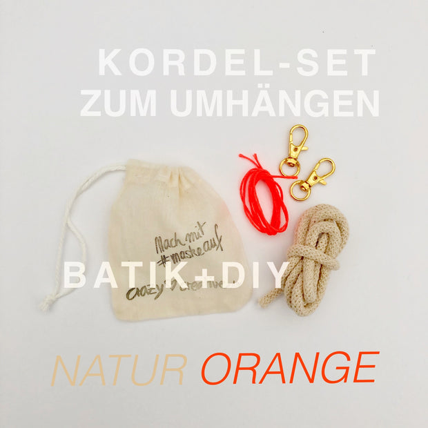 kordel-set-maske-batik-natur-orange-crazycreative.de-by-gabriele-van-de-flierdt-photo-1