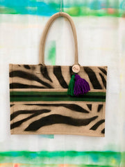 jute-tasche-zebra-black-green-l-crazycreative.de-by-gabriele-van-de-flierdt