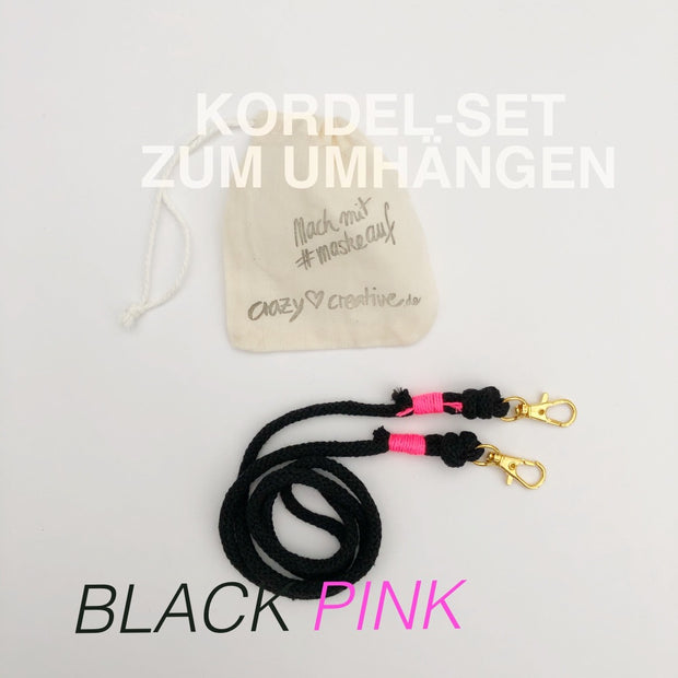 Kordel-set-maske-baumwolle-black-pink-crazycreative.de-by-gabriele-van-de-flierdt-photo-1