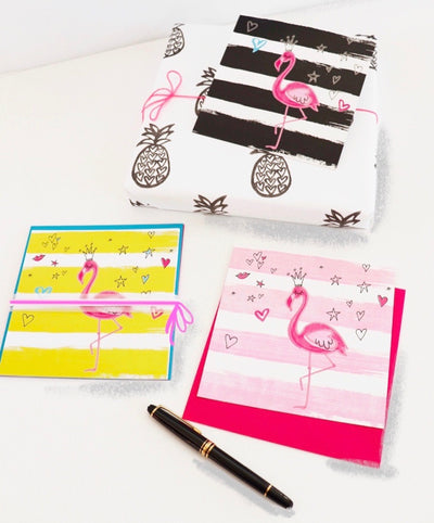 flamingo-love-karten-set-6-15x15-geschenk-crazycreative-by-gabriele-van-Flierdt