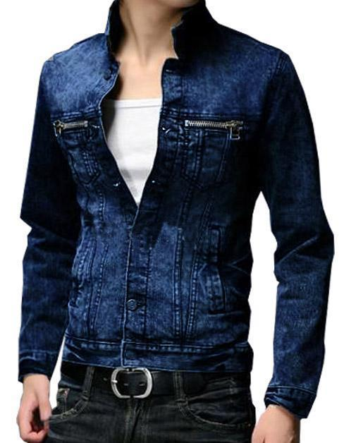 4c94e13bc92a Stylish zip Double Pocket Stylish Denim Solid Comfortable Shirts for M –  ramtraders