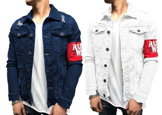 cc59814860f7 Pack of 2 New Branded Style Double Pocket Solid Denim Shirts for Men –  ramtraders