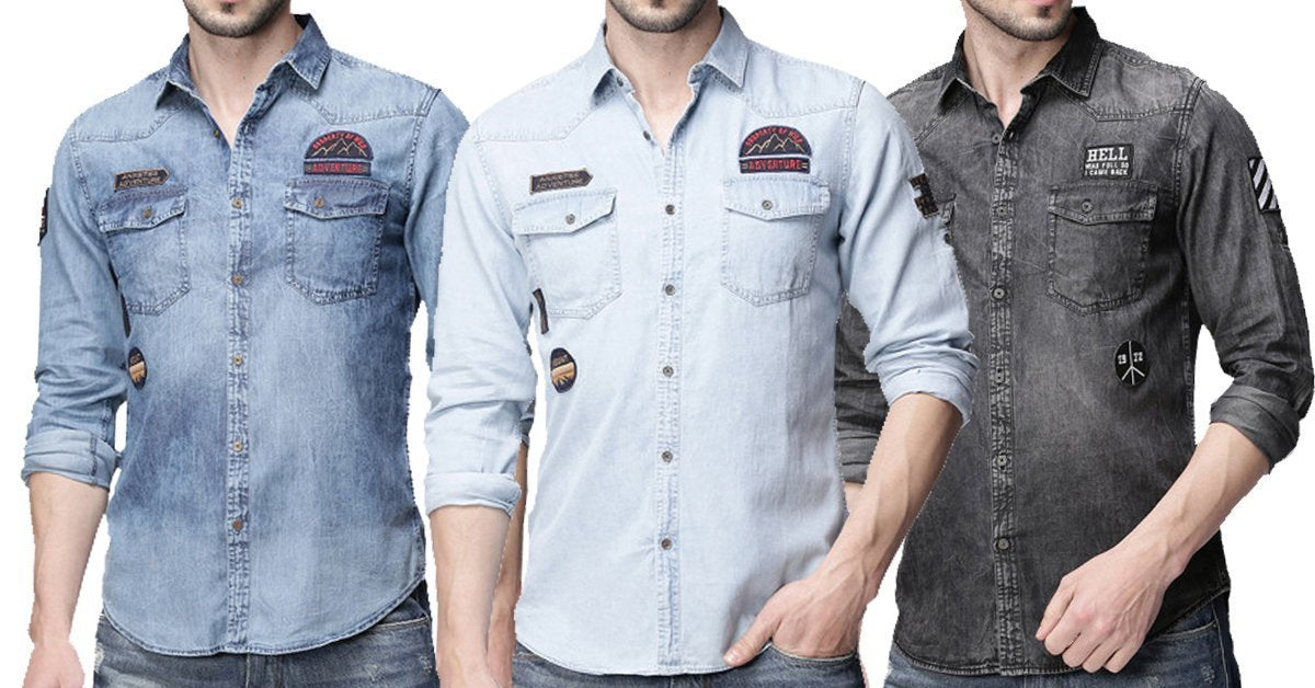 e6980cd831c1 New Fashion Quality Denim Shirts for Men Pack of 3 – ramtraders