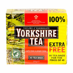 Taylors Yorkshire Tea 40 Tea Bags Plus 100% Free