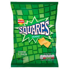 Walkers Squares Cheese & Onion Snacks 27.5g