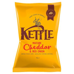 Kettle Chips Mature Cheddar & Red Onion Best Before : 09.11.2019