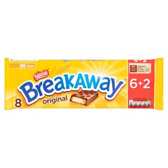 Nestle Breakaway Milk Chocolate Biscuit Bar 6+2 Pack 152.8g