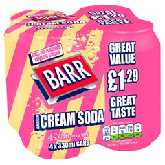 Barrs Cream Soda 4pk