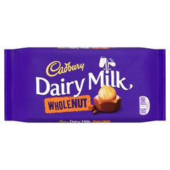 Cadbury Dairy Milk Whole Nut Chocolate Bar 200g