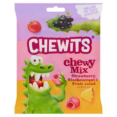 Chewits Chewy Mix Strawberry, Blackcurrant & Fruit Salad Flavour 125g
