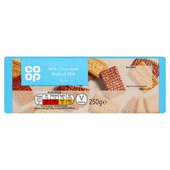 Co-op Milk Chocolate Malted Milk Biscuits 250g