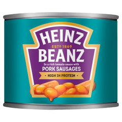 Heinz Beanz In a Rich Tomato Sauce with Pork Sausages 200g