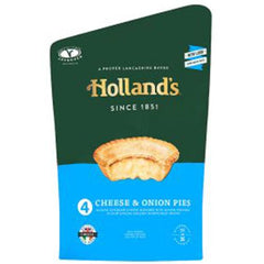 Hollands Cheese & Onion Pies 4pk
