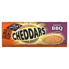 Jacob's Cheddars Smoky BBQ Flavour Cheese Biscuits 150g