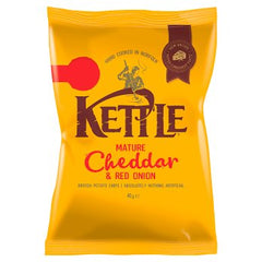 KETTLE® Mature Cheddar & Red Onion British Potato Chips 40g